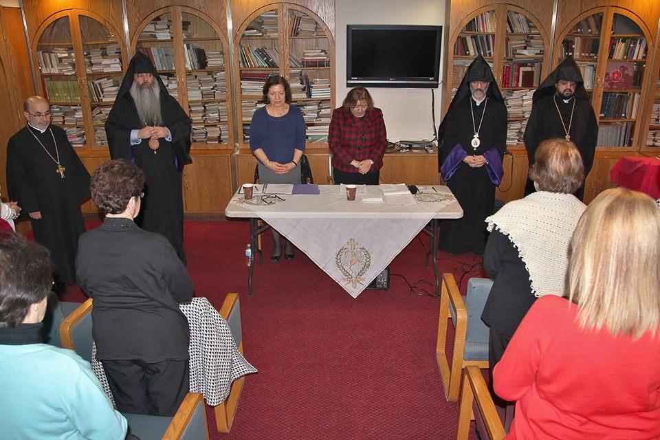 Archbishop Sarkissian at HOM meeting